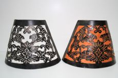 Iron lamps with colorful cotton